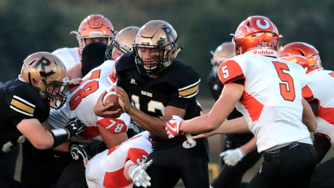 Keith Stewart of River View runs the ball during a home game against Meadowbrook.