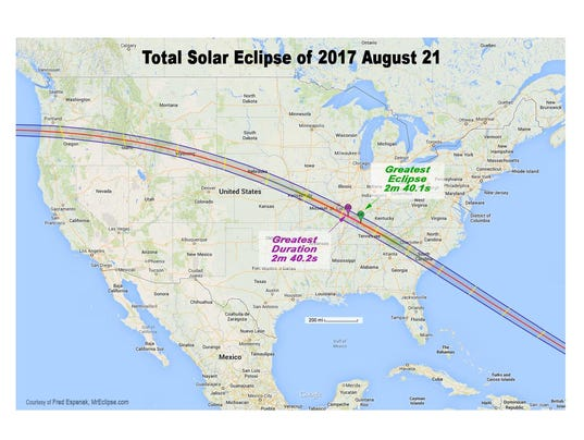 Image result for path of great american eclipse