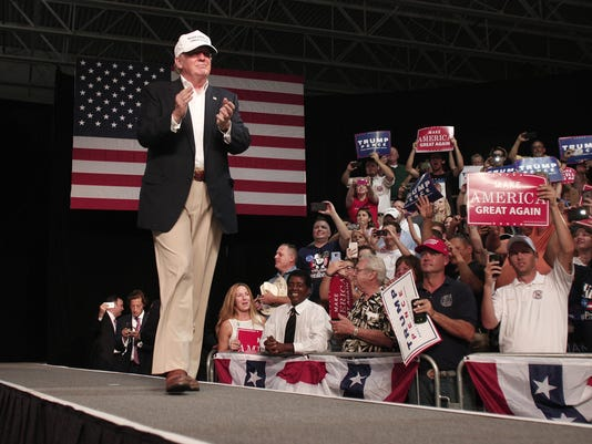 GOP Presidential Candidate Donald Trump Campaigns In Dimondale, Michigan