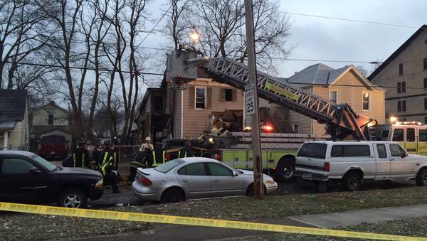 An overnight fire tore through this Hamilton home early Friday.