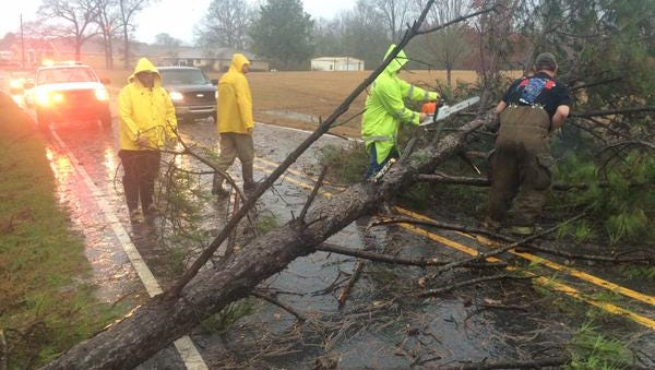 Jan. 3 Covington County storm damage.