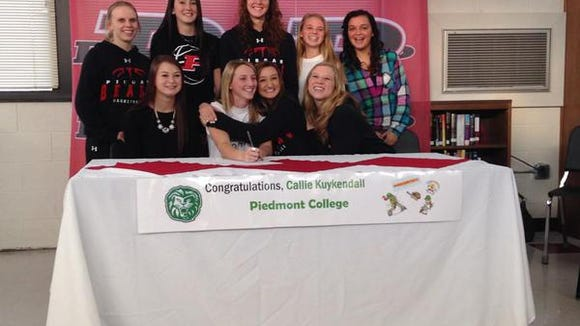 Pisgah senior Callie Kuykendall has signed to play college softball for Piedmont (Ga.).