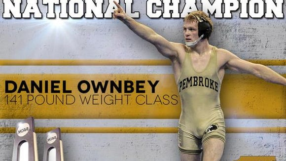 Enka alum Daniel Ownbey is a redshirt senior for the UNC Pembroke wrestling team.