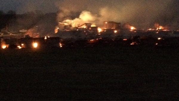 Chicken houses catch fire in Rankin County.