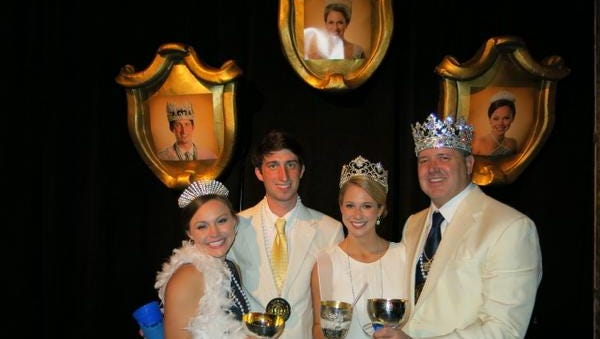 Cotillion Princess Anna Blythe Hodges, Prince Don Hathaway III, Queen Mae Allen Hargrove, King Dr. David J. Clemons at Queen, Prince & Princess Party.