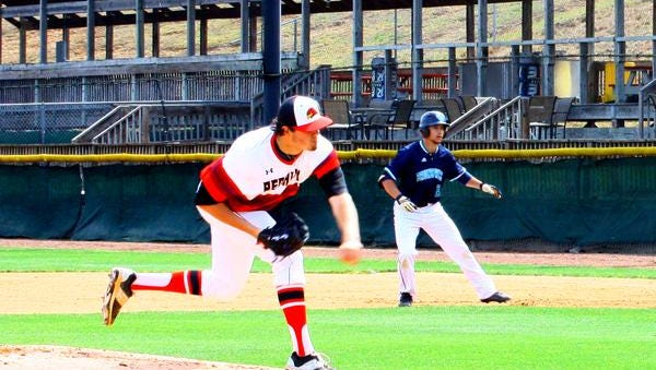 Reynolds graduate Bryce Hensley is a freshman for the Catawba Valley Community College baseball team.