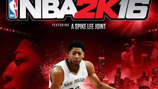 Anthony Davis appears on the cover of NBA 2K16.