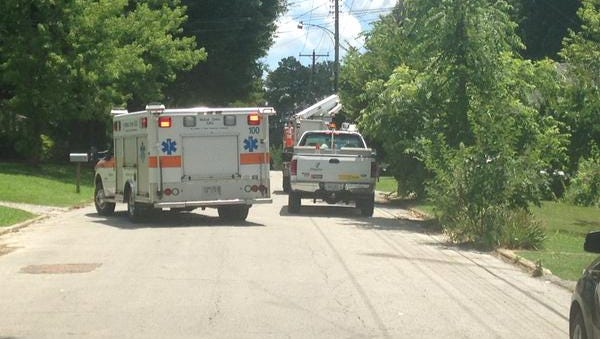 A Charter Communications employee was taken to a local hospital by ambulance after he fell from a bucket truck on Highview Street in Jackson this afternoon, authorities said.