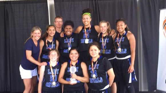 The WNC Lady Royals 10th grade basketball team.