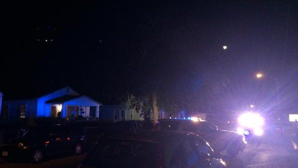 Police have a home on Jefferson Avenue taped off Sunday night after a reported shooting.
