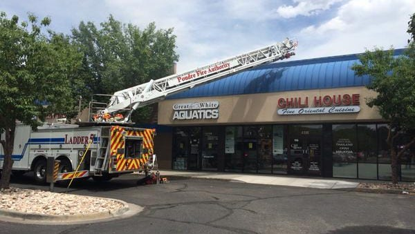 A two-alarm fire broke out Thursday afternoon at the Chili House, 4200 S. College Ave.