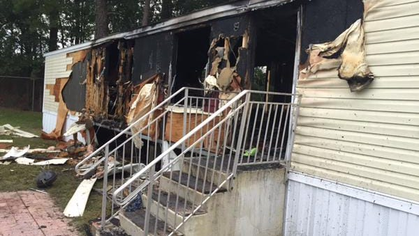 Around 3:17 a.m., Tallahassee Fire officials were dispatched to a Maverick Lane mobile home and found heavy fire in the kitchen.