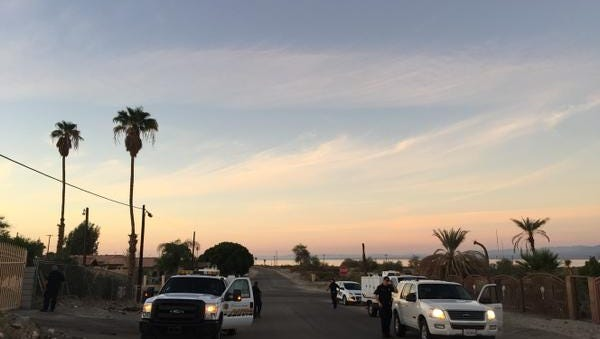 Riverside County animal control officers converged on North Shore Monday morning to round up stray dogs.