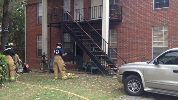 Jackson firefighters put out a kitchen fire at an apartment on Wallace Road