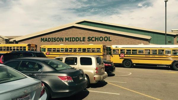 News Journal file photo of Madison Middle School.