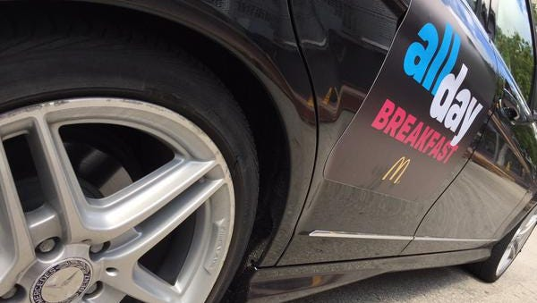 McDonald's and Uber to deliver free breakfast Friday night.