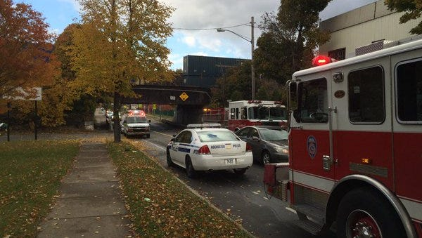Police investigate after one person was struck by train in Rochester.