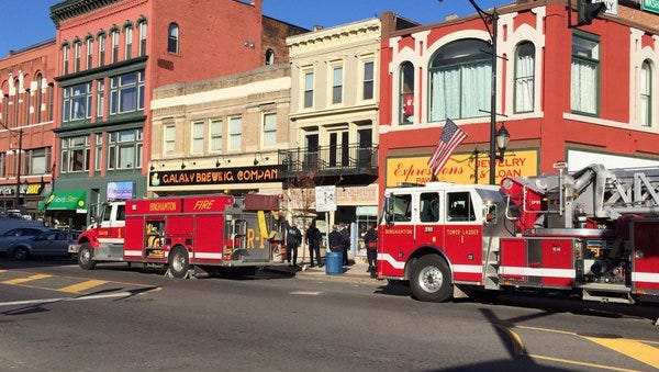 Firefighters responded to a reported gas leak in Binghamton on Monday morning.