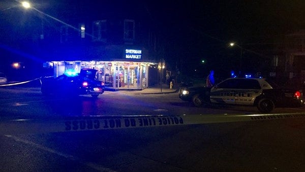 Sherman Market,  a convenience store on 1764 Sherman Avenue, was the location of 217 police calls in the last two years including fights, a felonious assault with a person shot and drug trafficking.