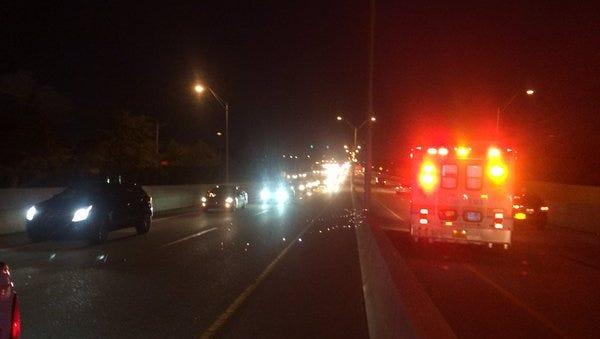 Crash is causing delays on the Midpoint Bridge.