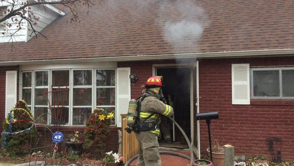 Firefighters responded to the 1500 block of Wogan Road in York on Wednesday where a fire started in a home's kitchen.