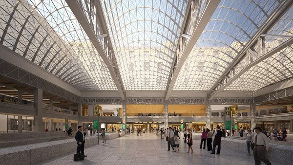 A proposed vision of a revamped Penn Station.