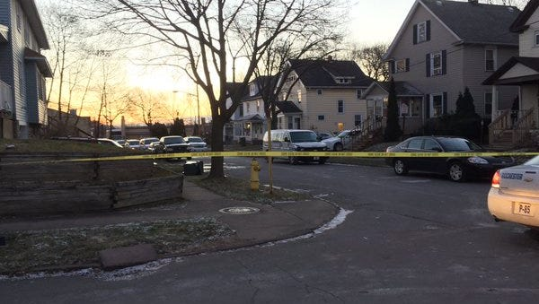 Leighton Avenue on Jan. 11, 2016, where four people were found dead inside a home.