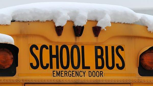 School start times are being delayed because of wintry weather.