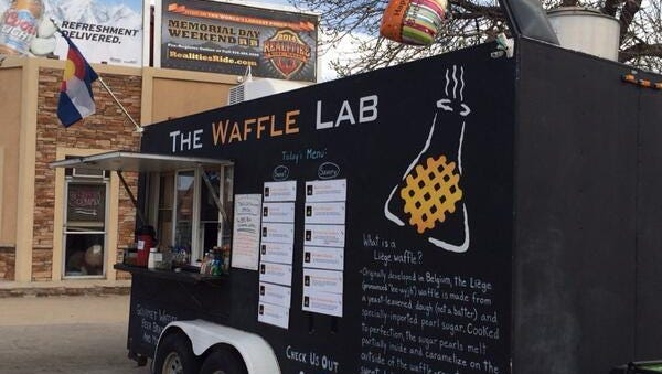 The Waffle Lab food truck, parked in Old Town.