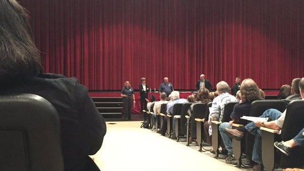 Members of the York County Heroin Task Force held a heroin awareness forum at Central York High School on Thursday night.