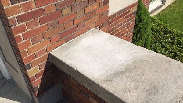 This is the spot where police say a racially-motivated threat was etched into the concrete at Brighton High School. (May 24, 2016)