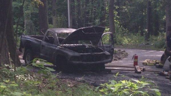 Officials battled a truck fire in Heidelberg Twp. on June 2, 2016.