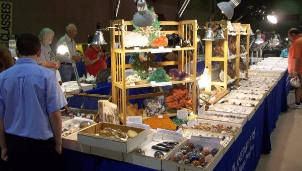 A photo from the 41st Annual Gem and Mineral Show in 2015.