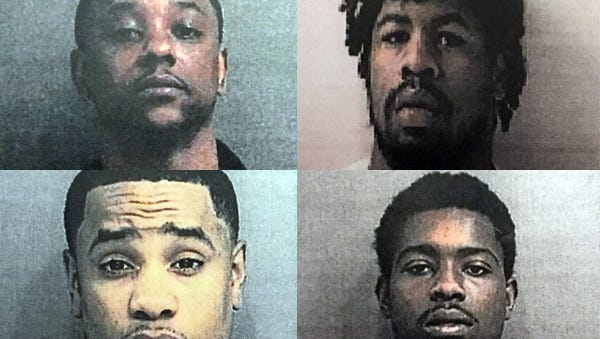 Cornell McKennelly, Cory Cook, Rodrick Curtis and Michael Grevious, clockwise from top left.
