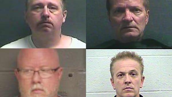 Phillip Farley, Barry Moravec, Scott Hardesty, David Dunn, clockwise from top left.