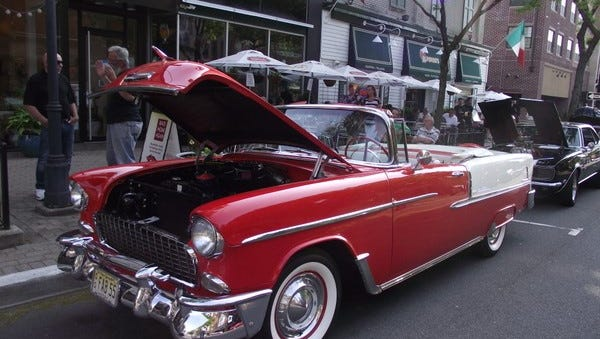 Classic cars are rolling back into Downtown Somerville for the 28th annual Cruise Nights celebrated all summer.