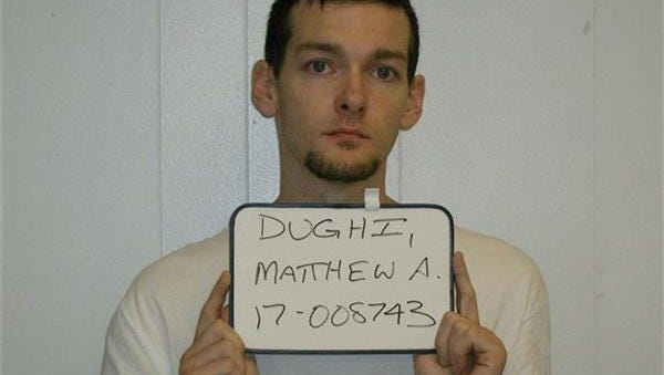 Matthew Dughi was charged with attempted burglary in Hackettstown.