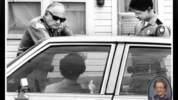 Police working the Dykes case in 1986