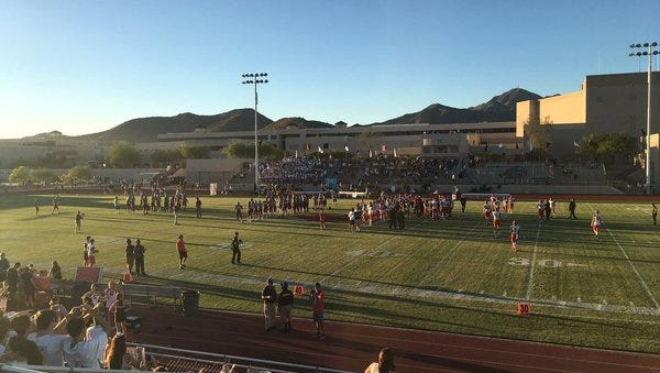 Field shot before a game before Chaparral and Desert Mountain.