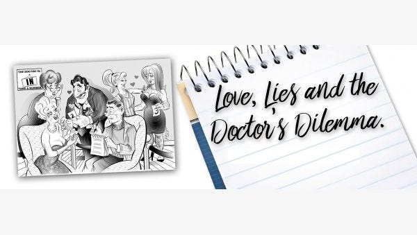 """The Somerset Valley Players in Hillsborough are dead serious about being funny as they rehearse their 2018 season opener, the comedy """"Love, Lives, and the Doctor's Dilemma."""" The show opens Friday, Jan. 19, and runs weekends through Sunday, Feb. 4. Friday and Saturday performances are evenings and Sundays are matinees."""