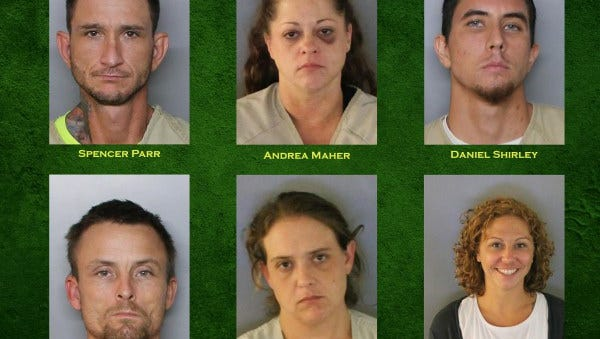 Six arrested in Charlotte County counterfeiting operation.