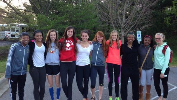 Roberson's girls track team competed Thursday at the Penn Relays in Philadelphia.