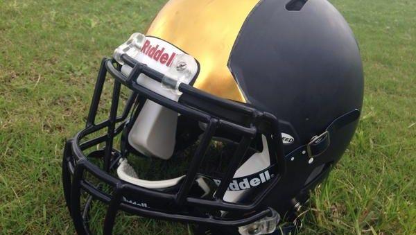 Holy Trinity's new helmet style for the 2014-15 season.