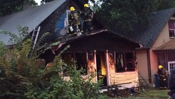 Firefighters responded to a report of a house fire in the 1600 block of 22nd Street shortly after 7 p.m. Wednesday.