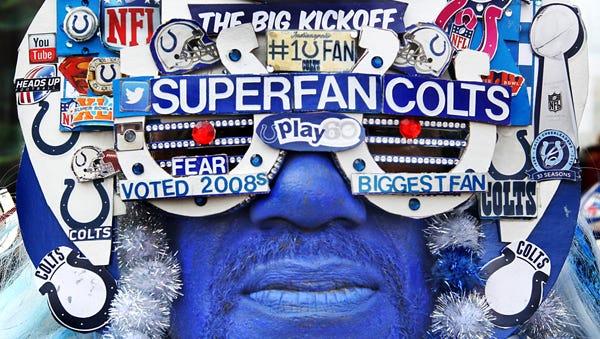 Colt's Super Fan, Michael Hopson.