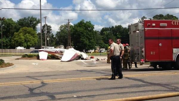 A plane crashed in the 8000 block of DeSiard Street in Monroe on Tuesday morning