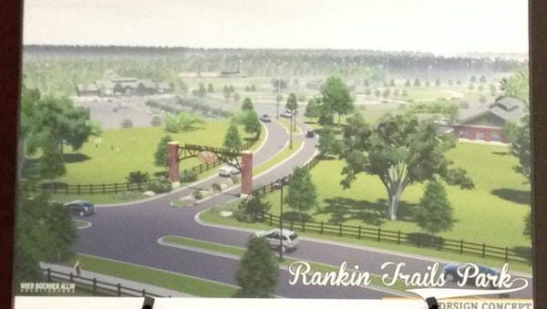 Rendering of Rankin Trails Park in Brandon, set to open in the spring of 2016.
