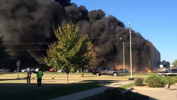 A small plane crashed on takeoff Thursday into a building at Mid-Continent Airport in Wichita, Kansas.