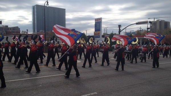 Veterans Day parade in downtown Nashville.
