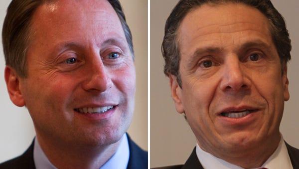 Rob Astorino, left, and Andrew Cuomo.